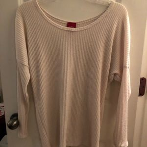 Buckle Cream Sweater Top